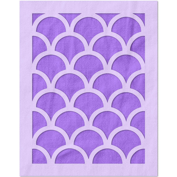 Fish Scale Scallop Pattern Stencil