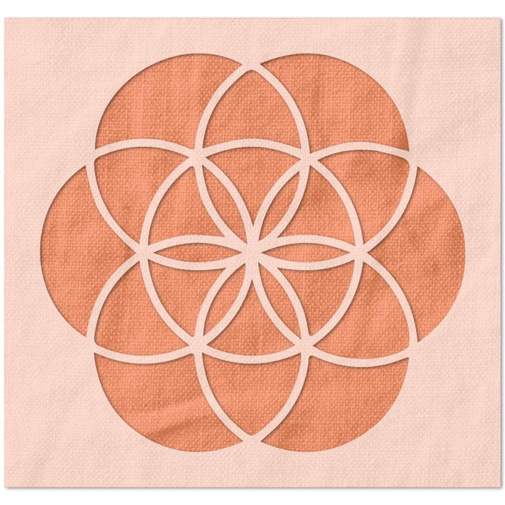 Flower of Life Pattern Stencil