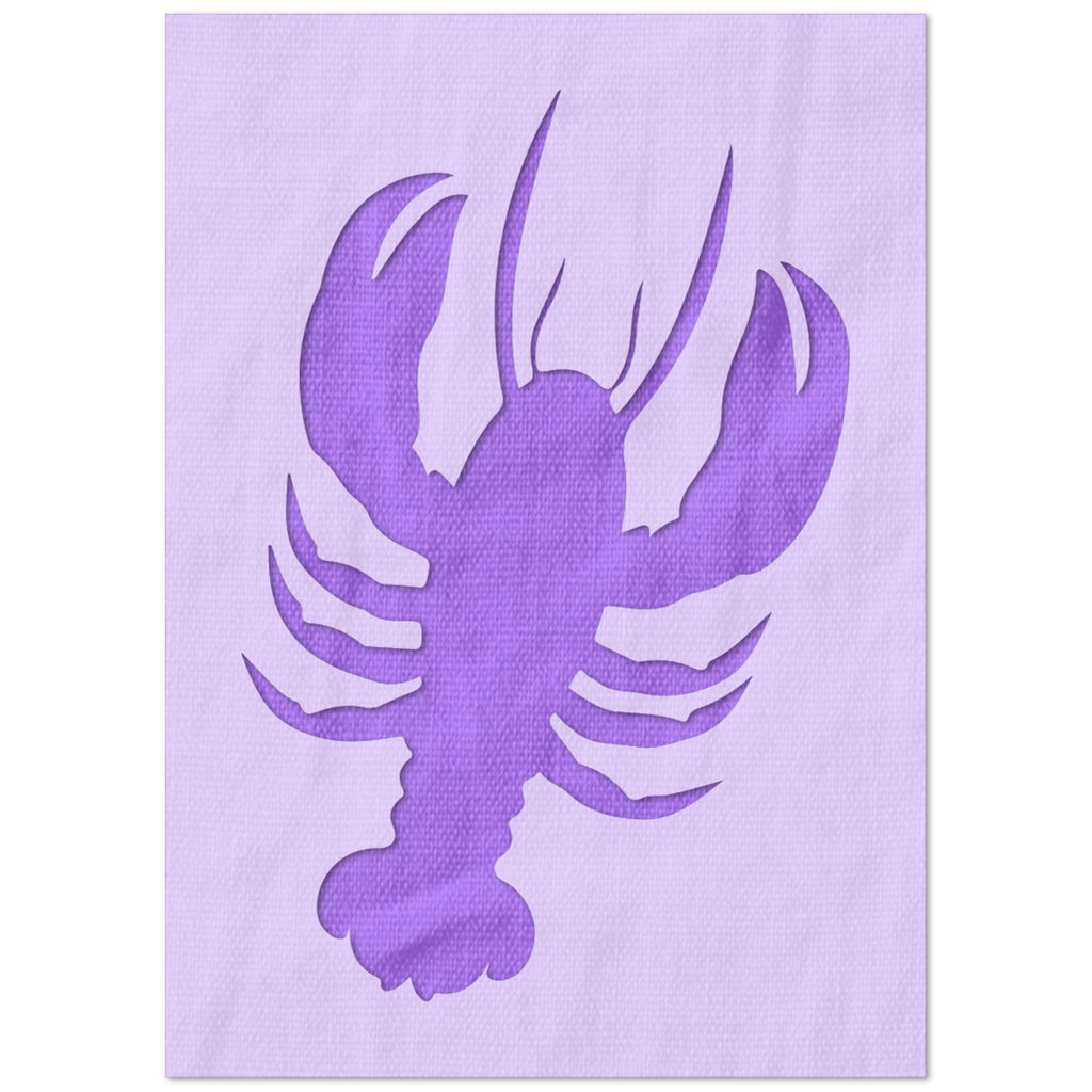 Simple Lobster Stencil
