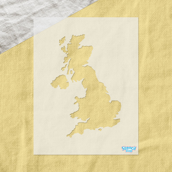 United Kingdom Outline Stencil