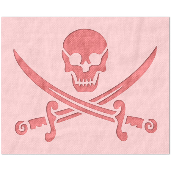 Jolly Roger Pirate Stencil