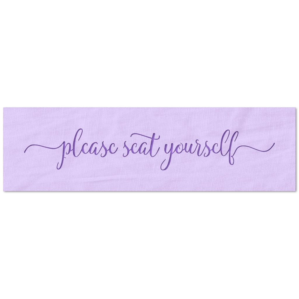 Please Seat Yourself Script Stencil