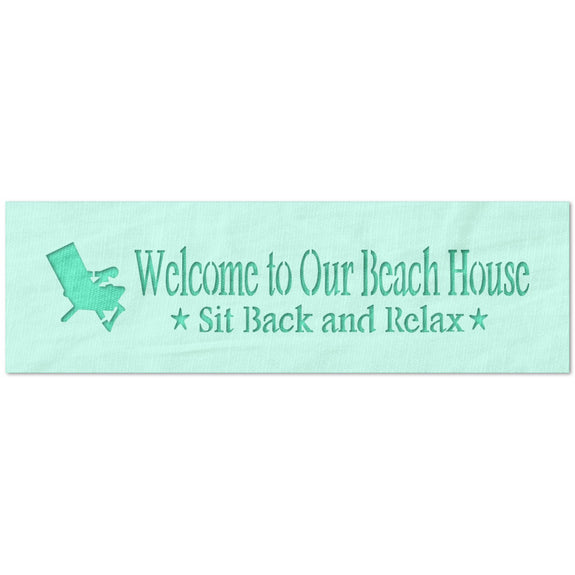 Welcome to Our Beach House Stencil