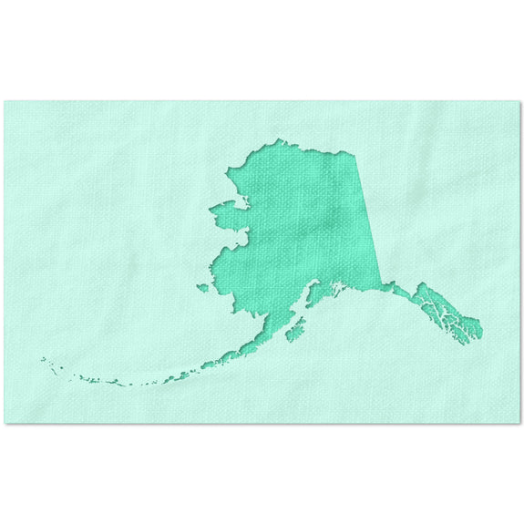 State of Alaska Shape Stencil