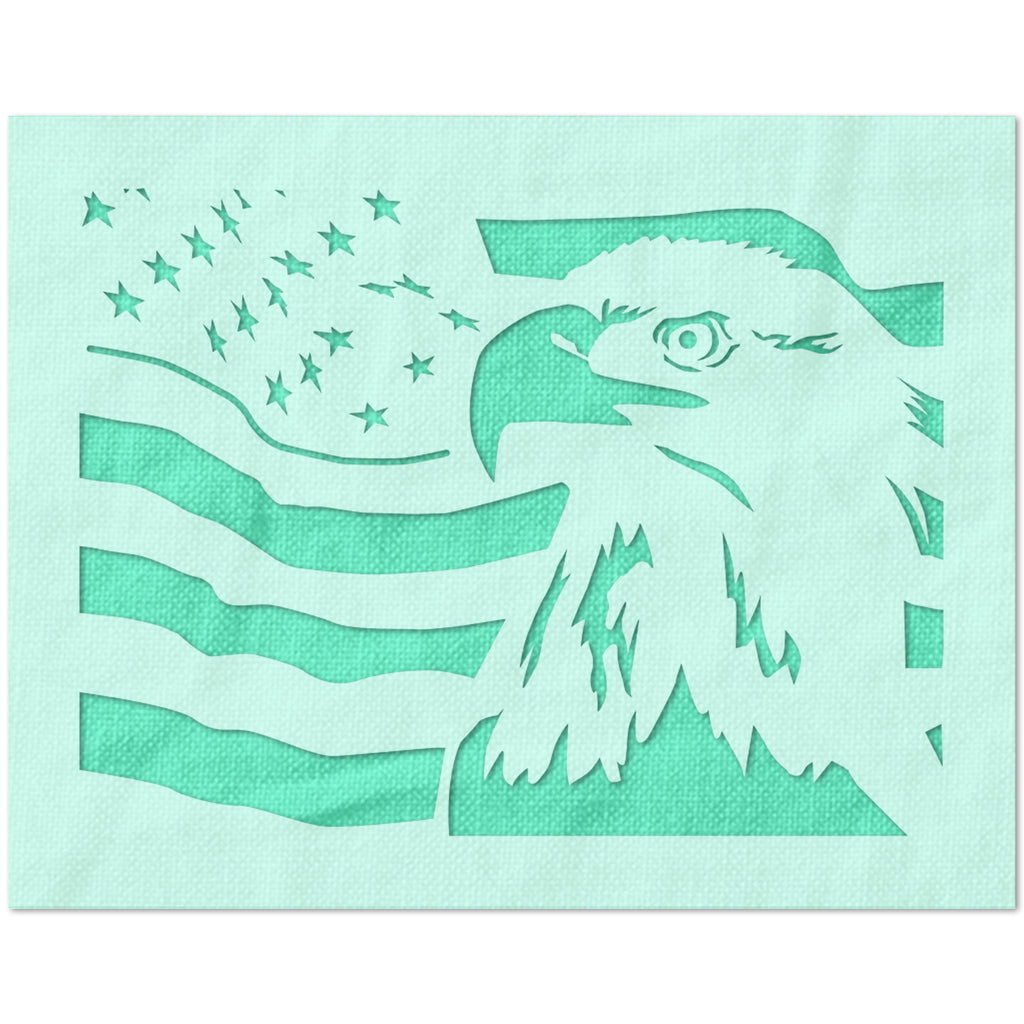 American Flag Bald Eagle Stencil