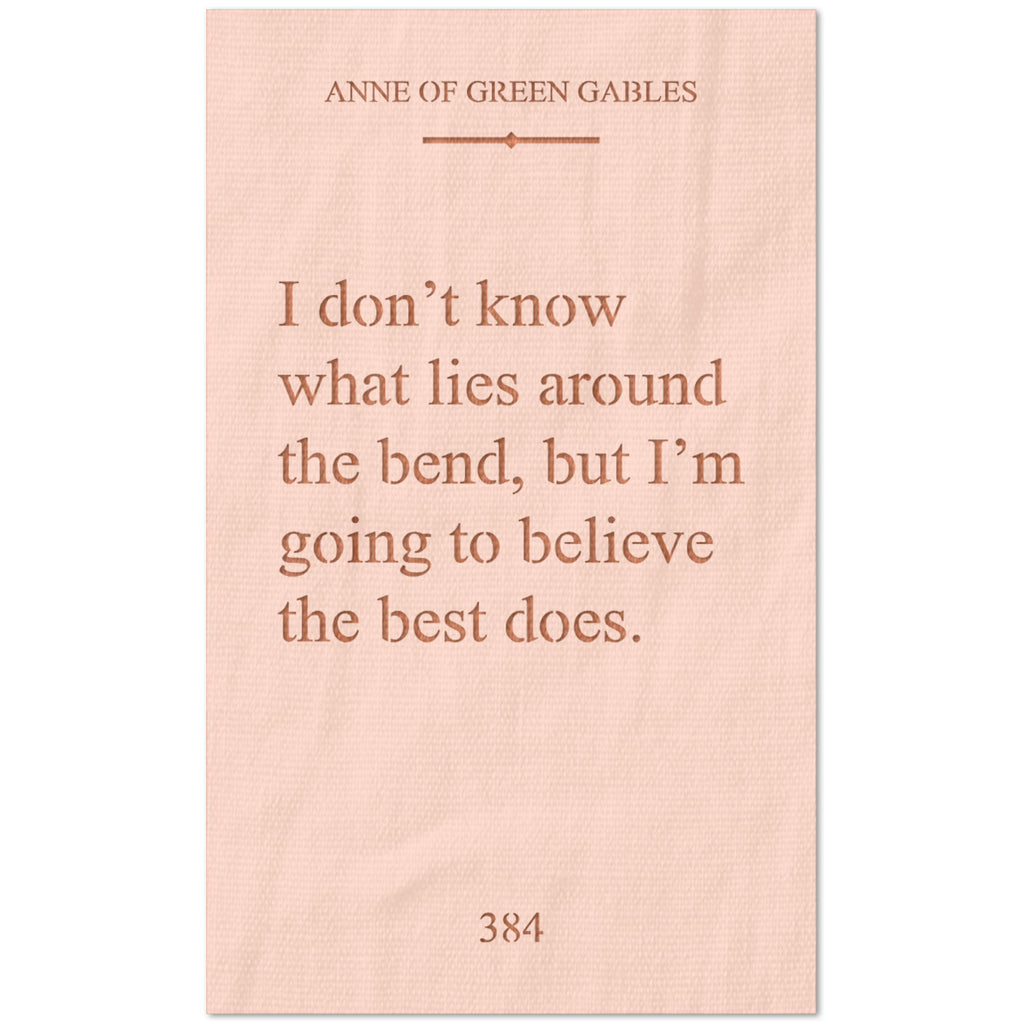 Anne of Green Gables Quote Stencil