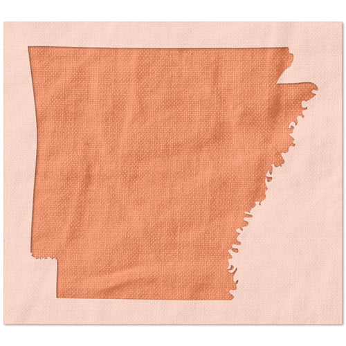 State of Arkansas Shape Stencil