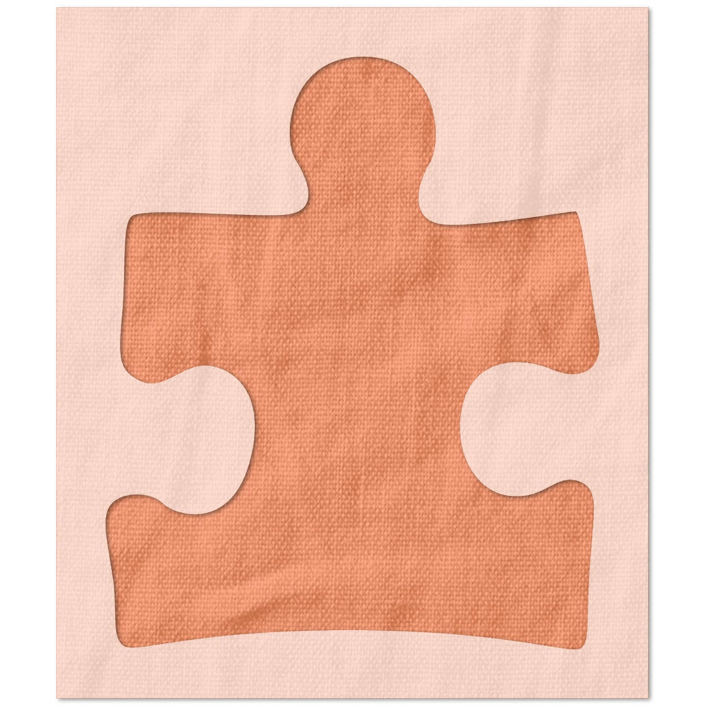 Autism Awareness Puzzle Piece Stencil