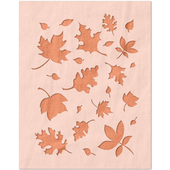 Autumn Leaves Pattern Stencil