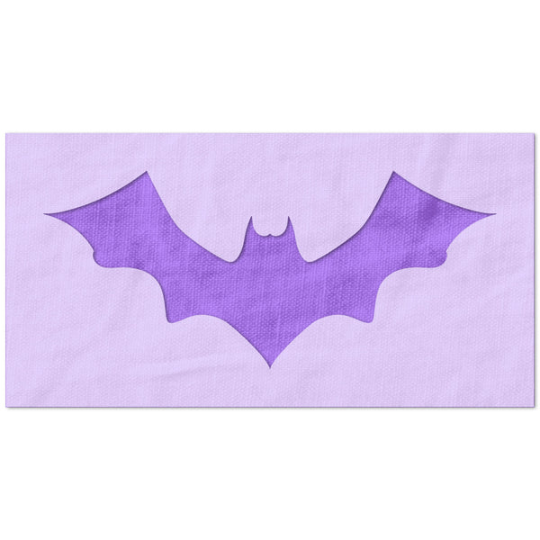 Flying Bat Symbol Stencil