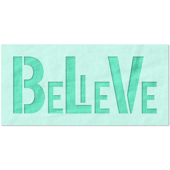Believe Modern Text Stencil