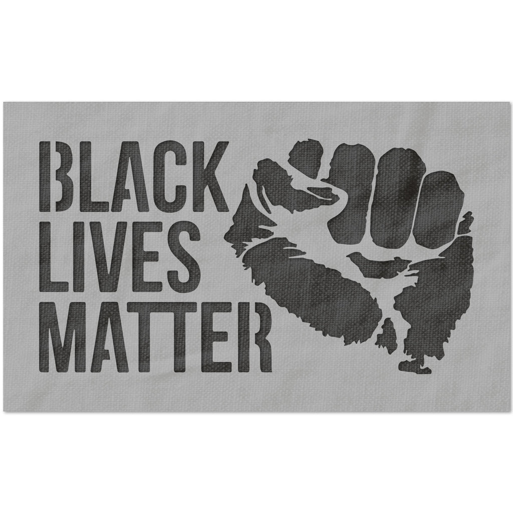 Black Lives Matter with Fist Stencil