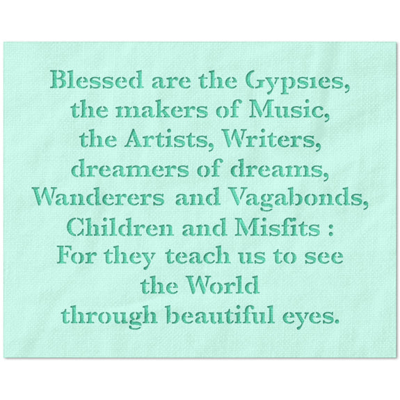 Blessed Are The Gypsles Stencil