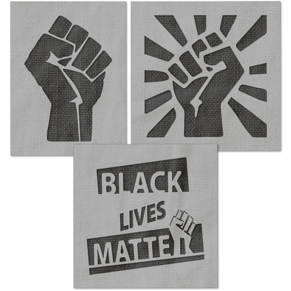 Black Lives Matter BLM Fist Stencils