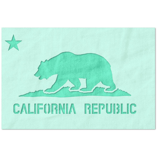 California State Flag Stencil