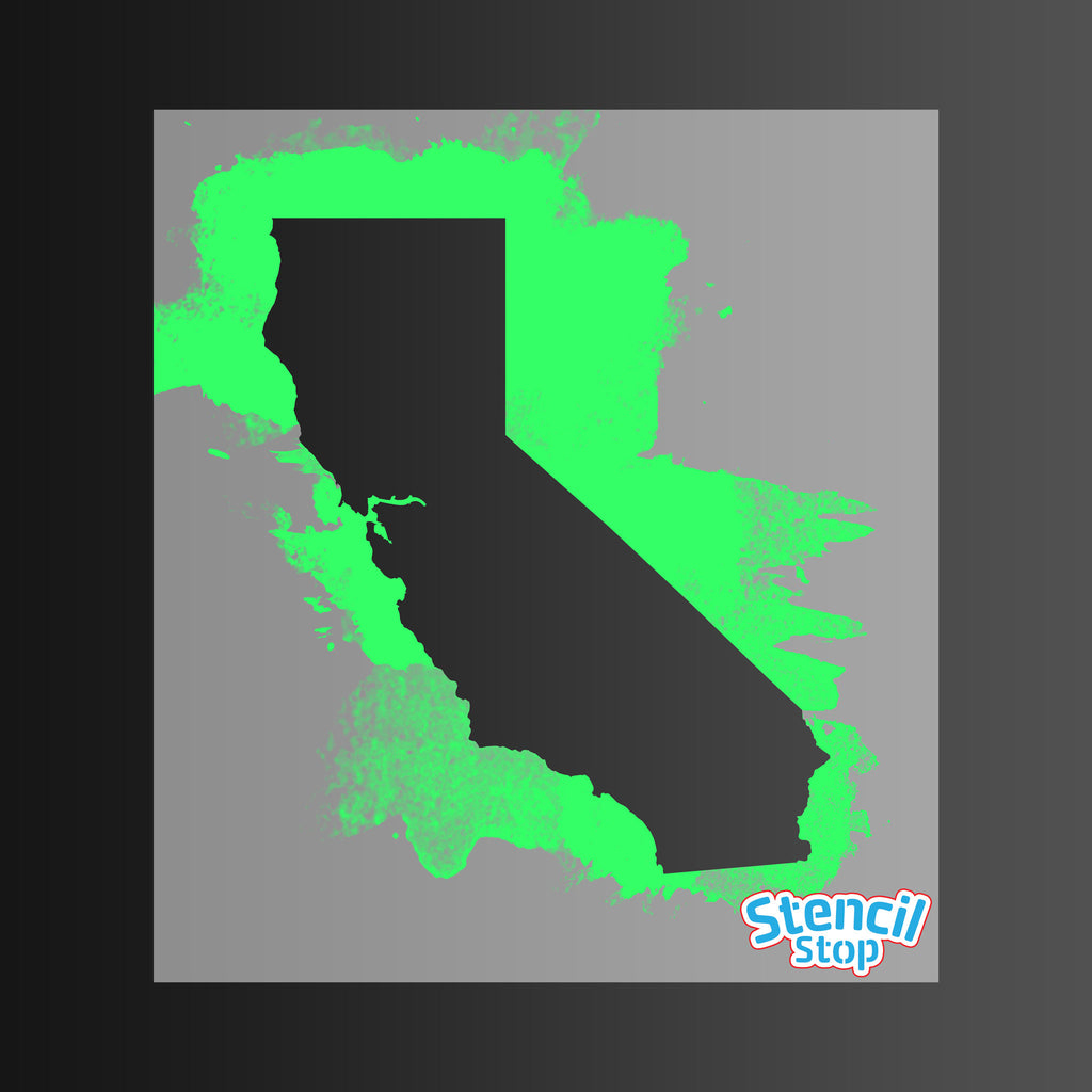 California State Outline Stencil