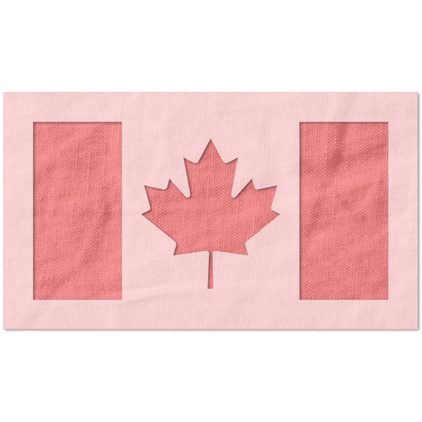 Canadian Flag Stencil