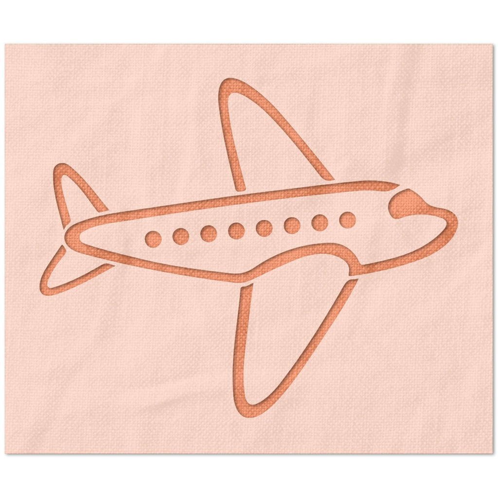 Cartoon Airplane Stencil