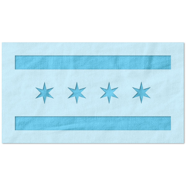 Chicago City Flag Stencil