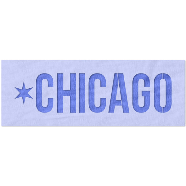 Chicago Star Stencil