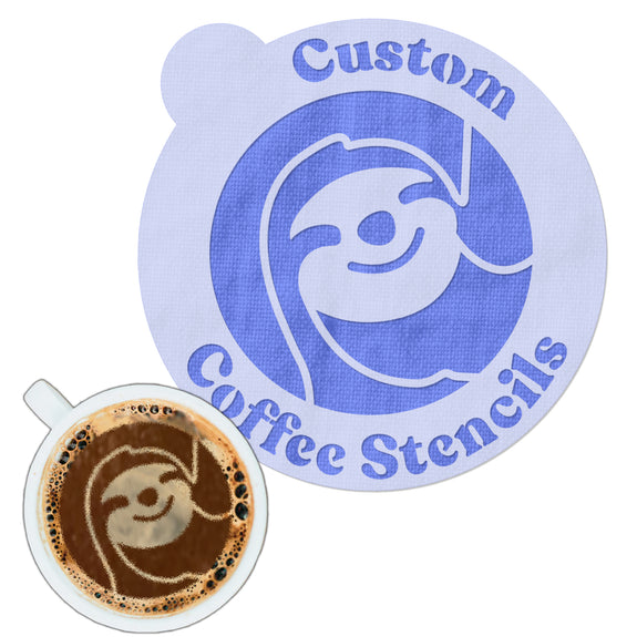Custom Coffee Stencils