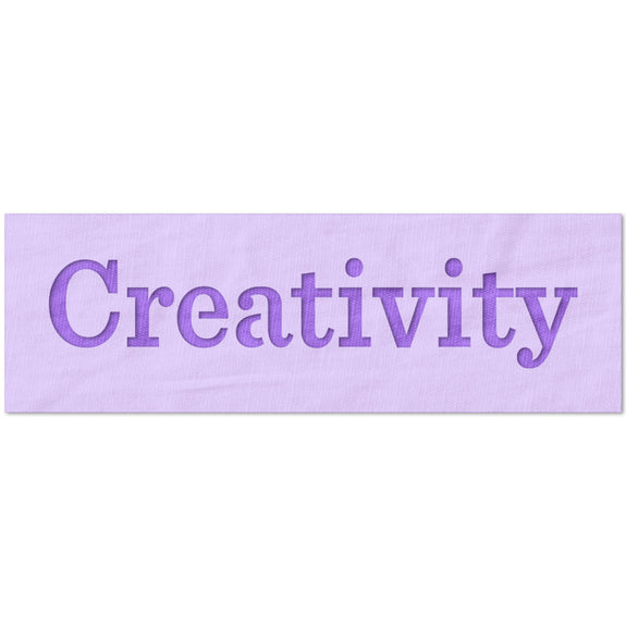 Creativity Text Stencil