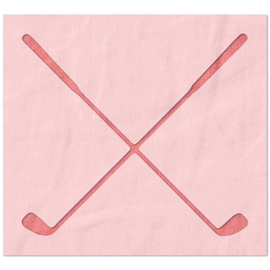 Crossed Irons Golf Stencil