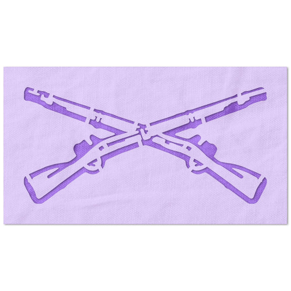 Crossed Rifles Stencil