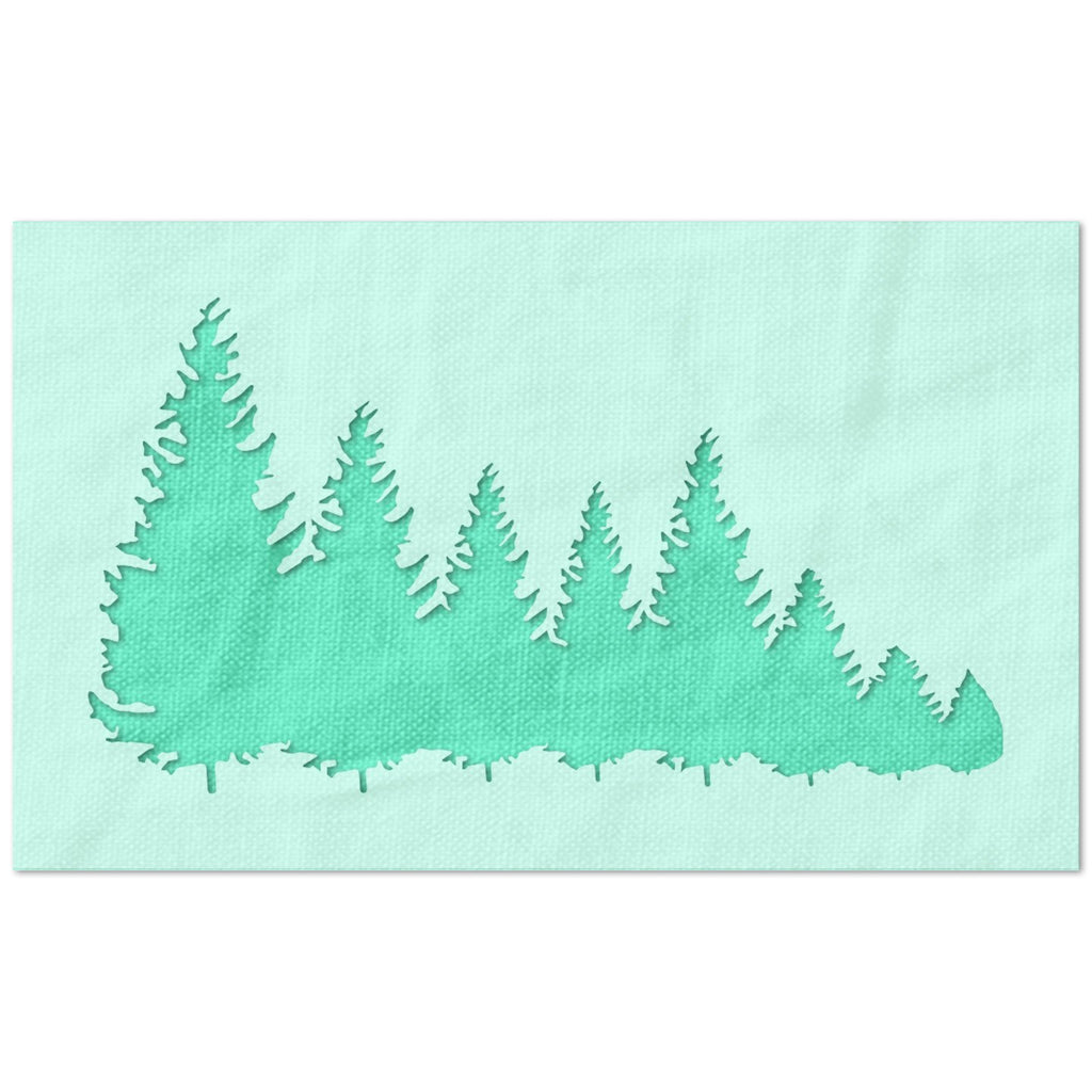 Descending Christmas Trees Stencil