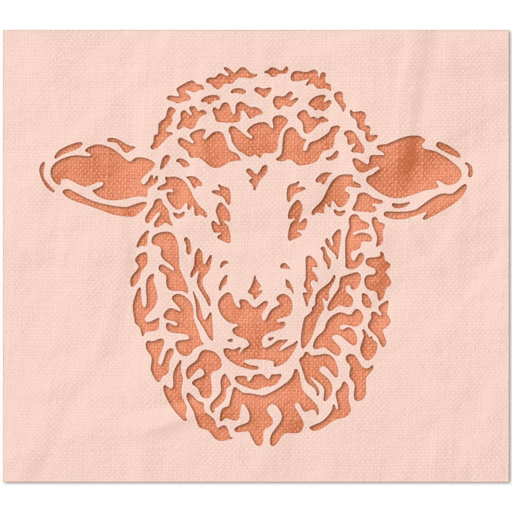 Detailed Sheep Stencil