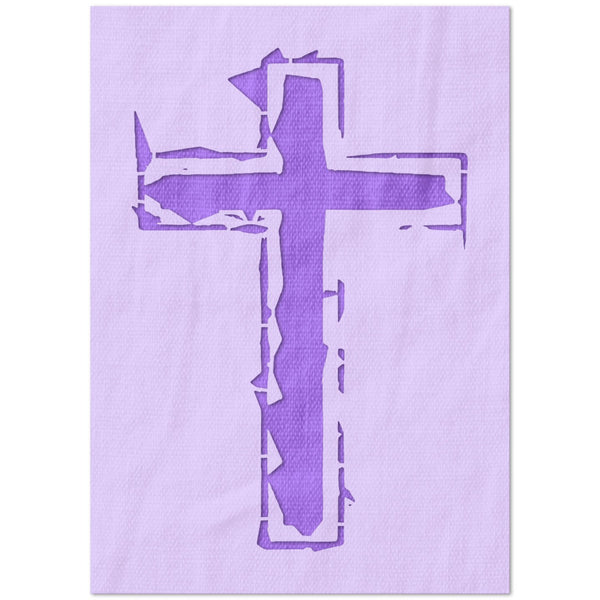 Distressed Cross Stencil