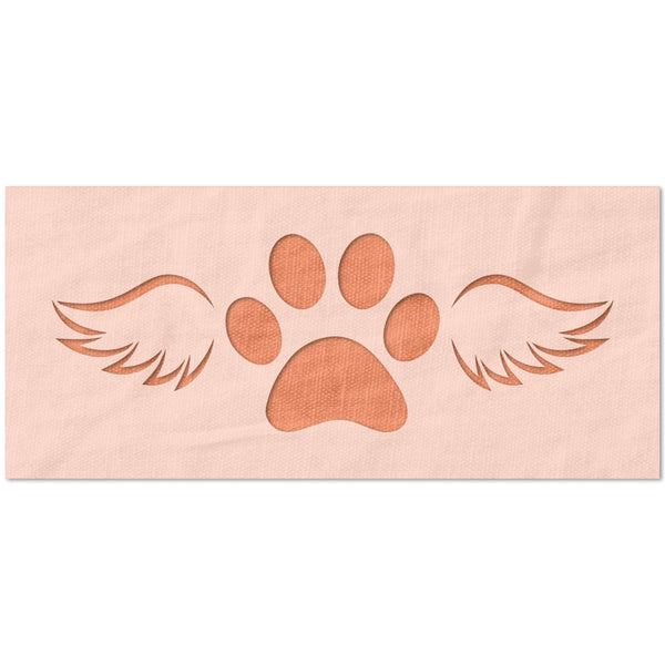 Dog Paw with Wings Stencil