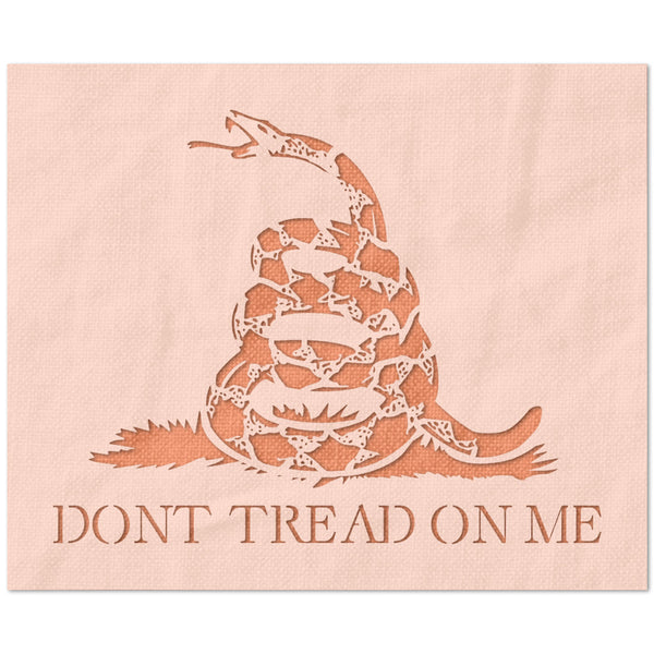 Don't Tread On Me Flag Stencil