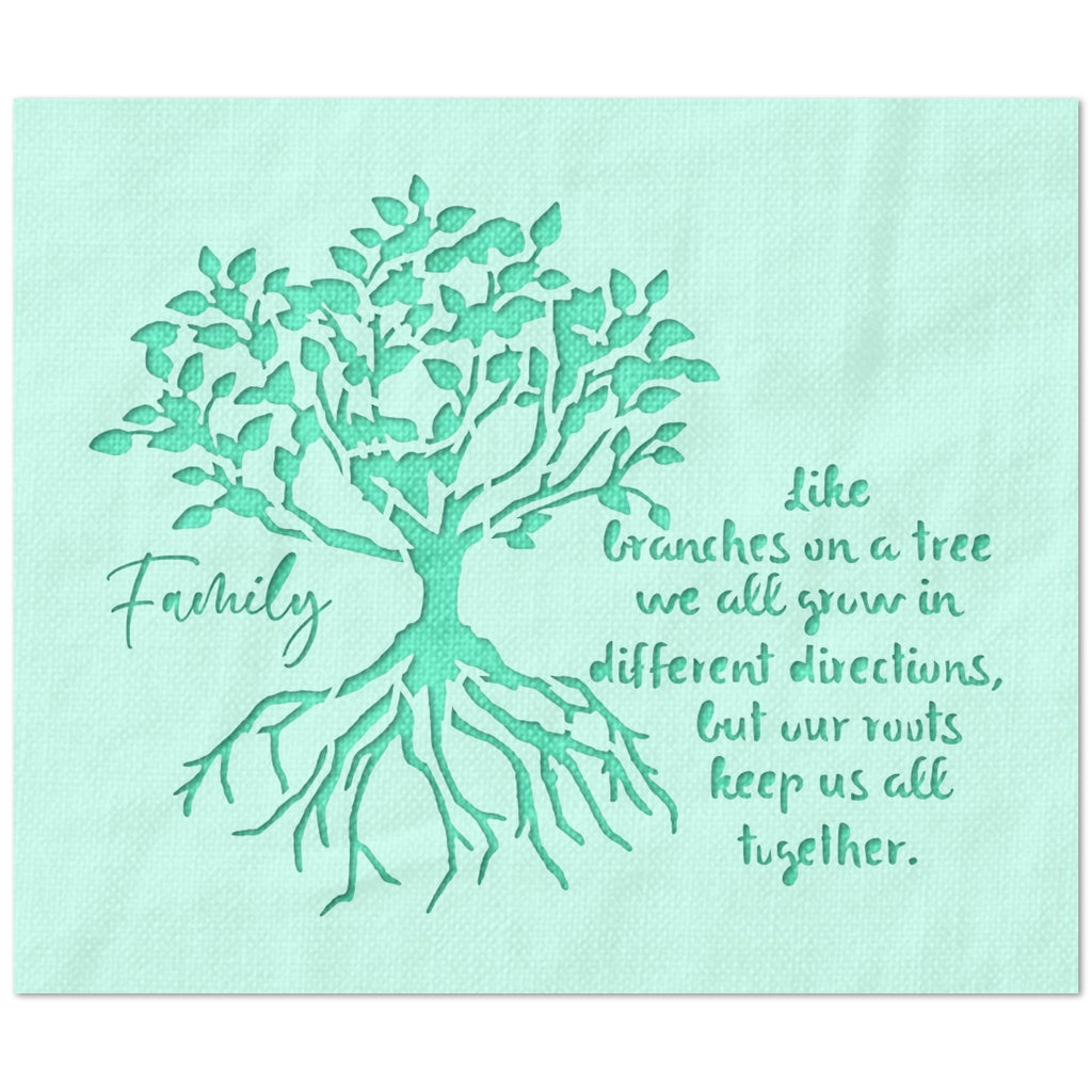Family Tree Roots Keep Us Together Stencil