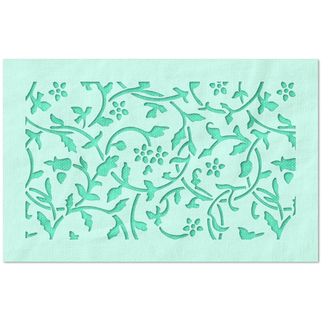 Floral and Vine pattern Stencil