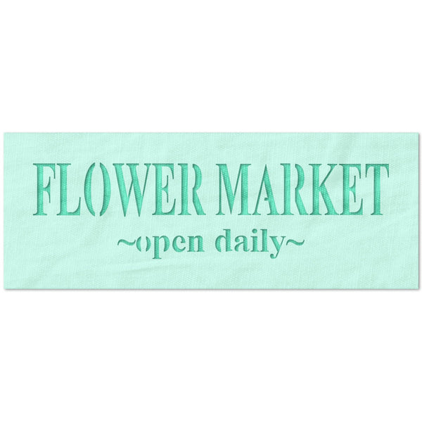 Flower Market Open Daily Stencil
