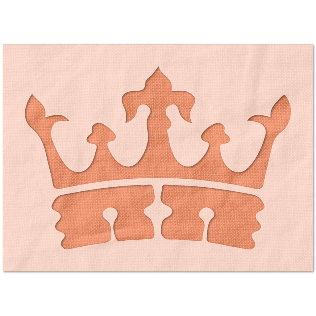 French Crown Stencil