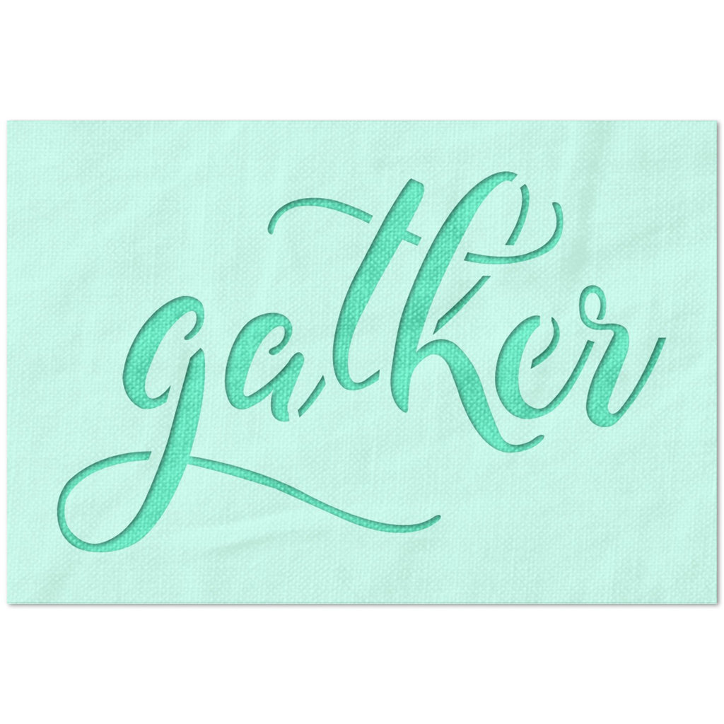 Gather Swirly Text Stencil