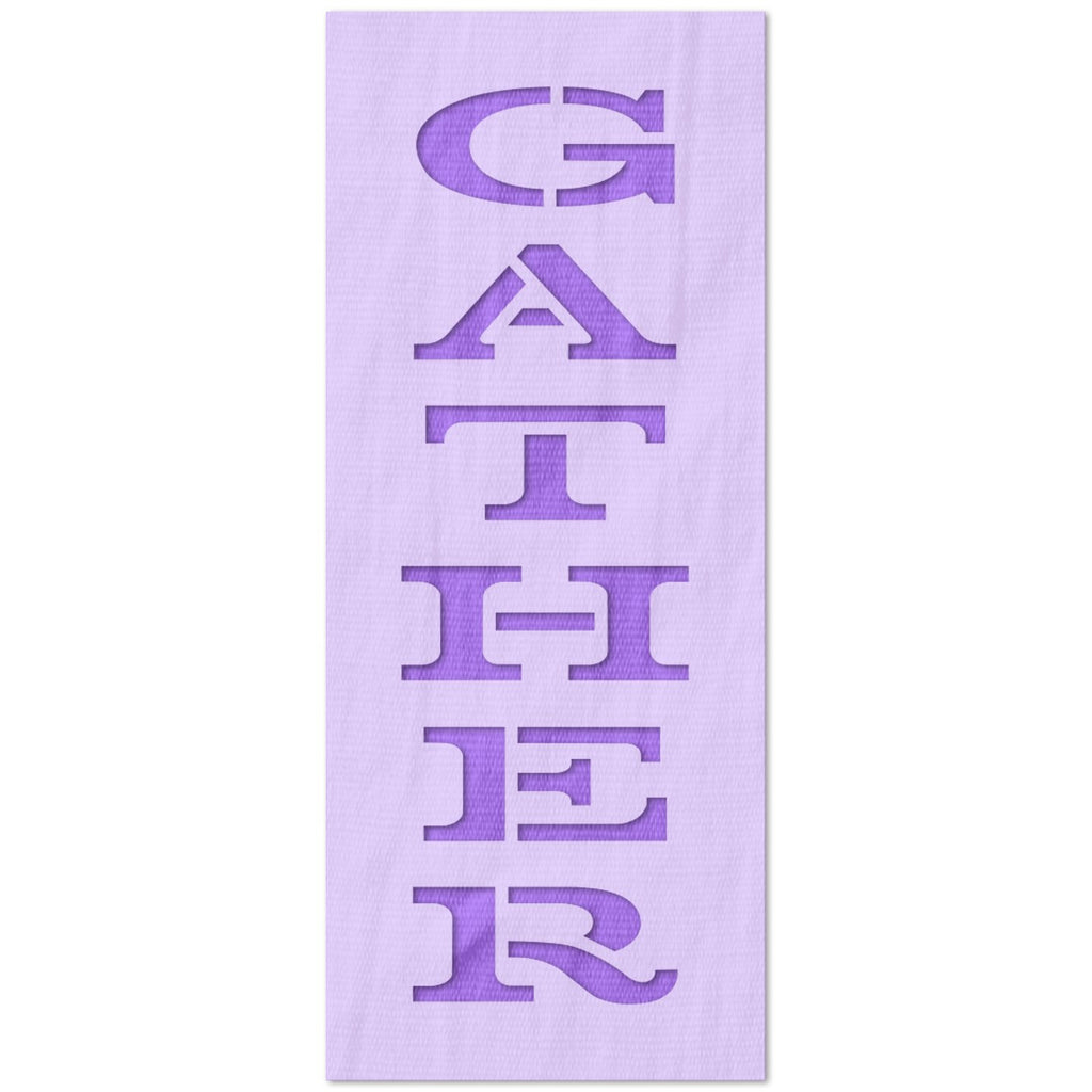 Gather Vertical Text Stencil