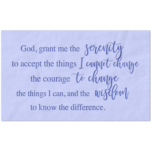 God Grant Me The Serenity Prayer Stencil