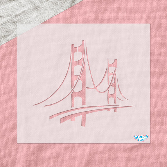 Golden Gate Bridge Stencil