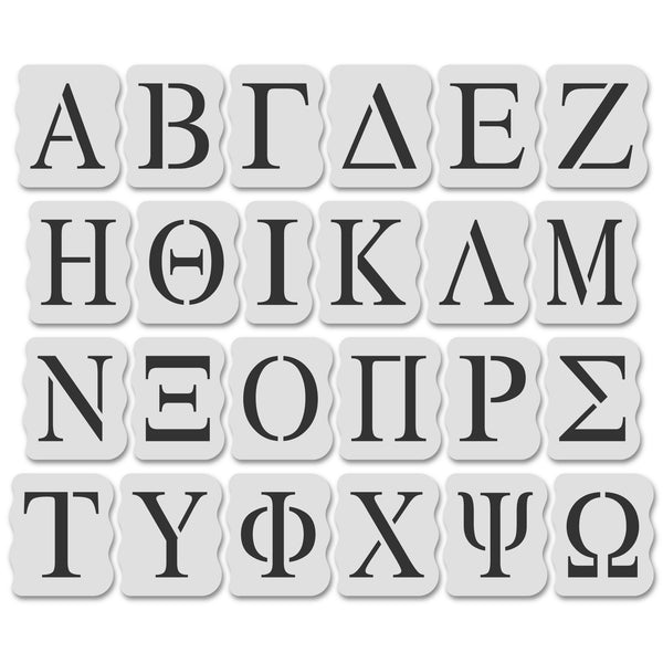Greek Letter Stencil Kit