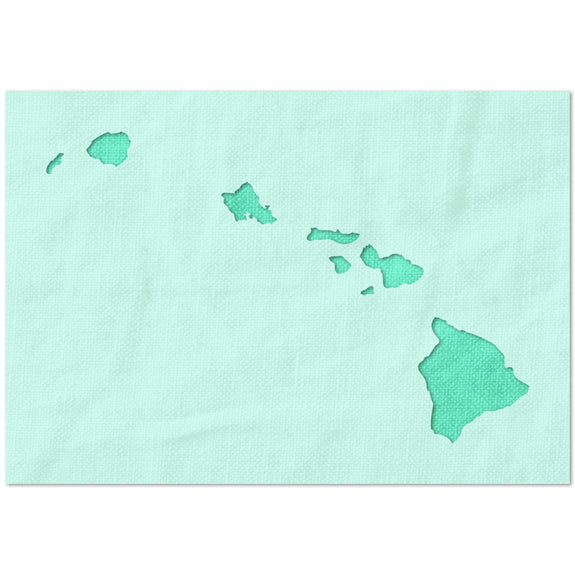 Hawaii State Outline Stencil
