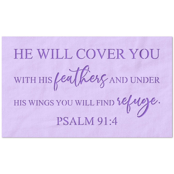 He will Cover You Psalm Stencil