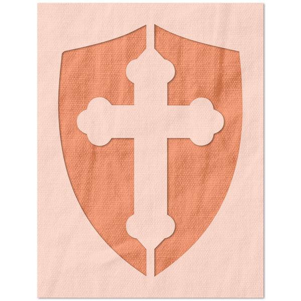Holy Cross Shield Stencil