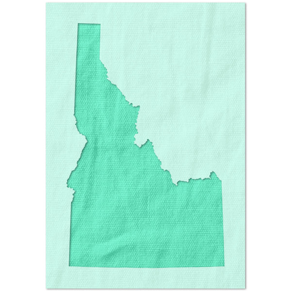 Idaho State Outline Stencil