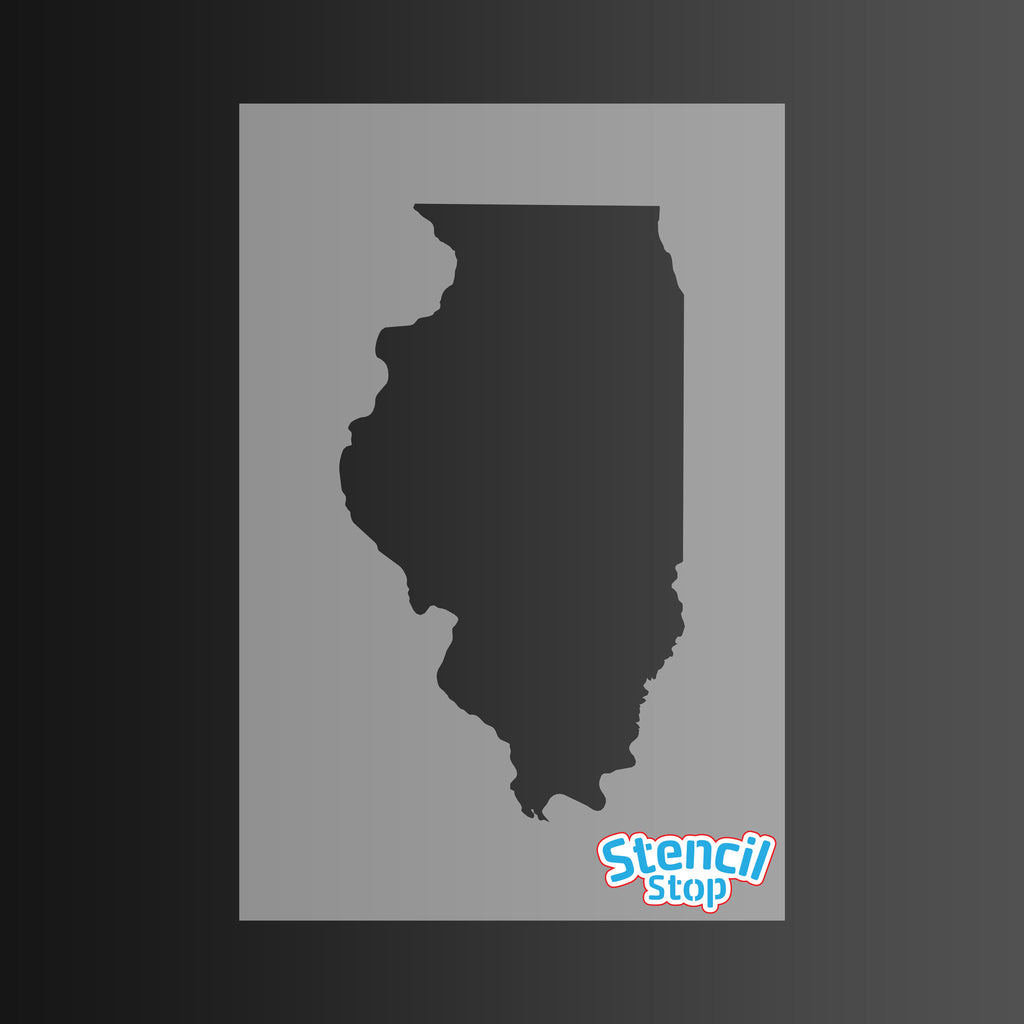 State of Illinois Shape Stencil