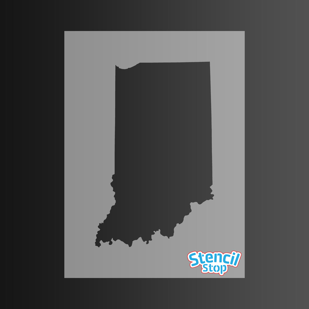 State of Indiana Shape Stencil