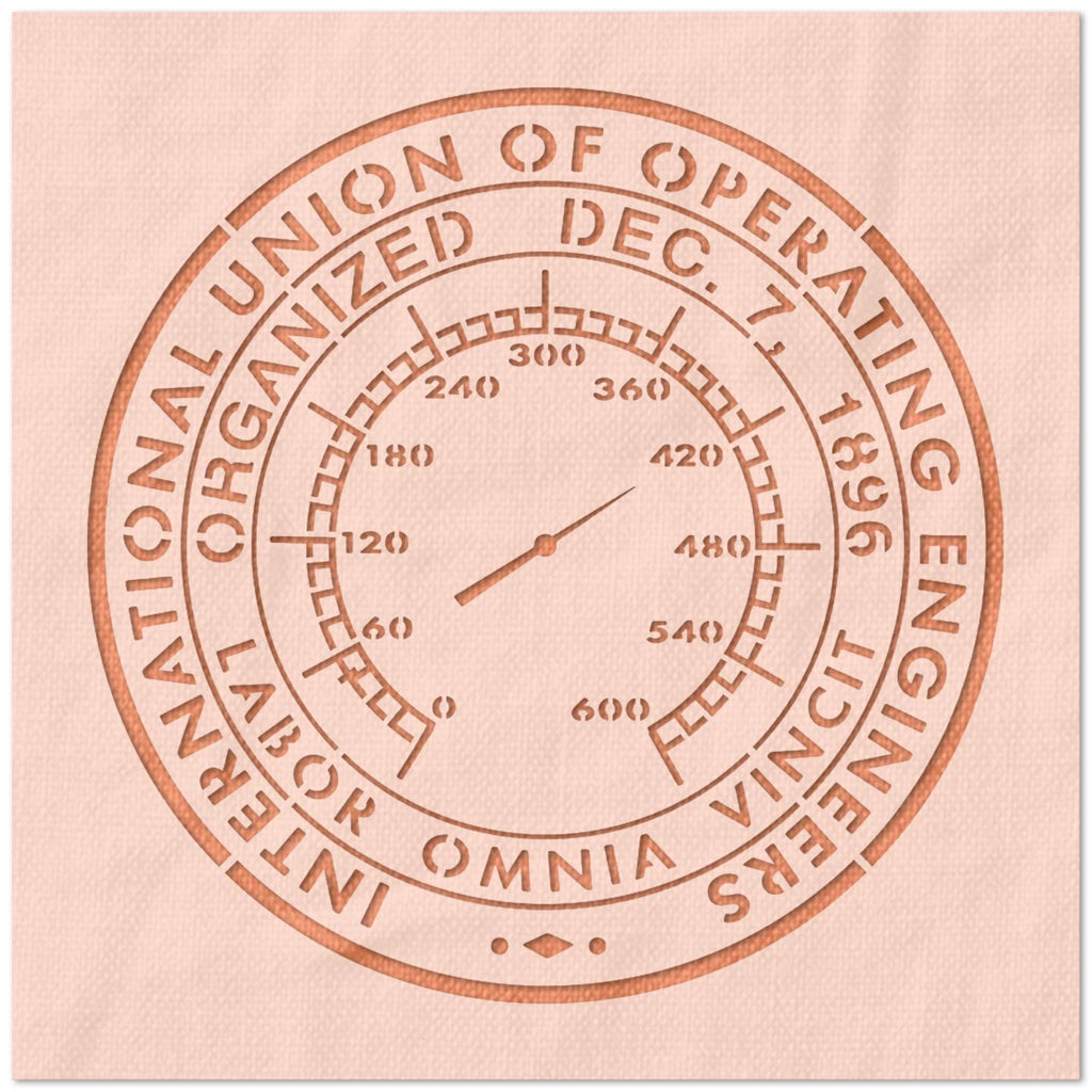 International Union of Operating Engineers Logo Stencil