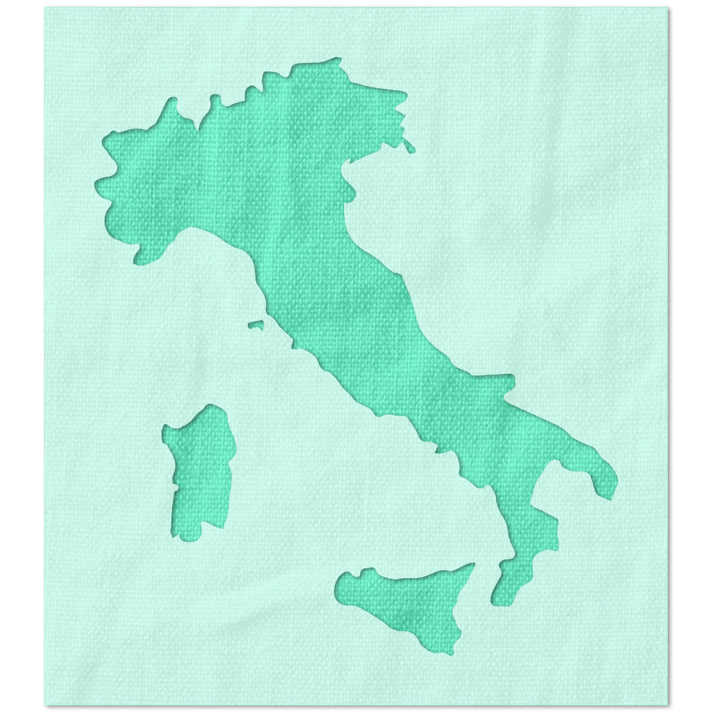 Italy Shape Outline Stencil
